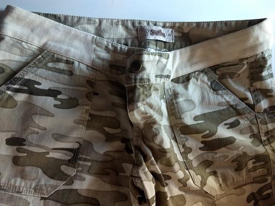 Pantalón Scombro Capri Mujer Camuflado Nuevo Sin Estrenar
