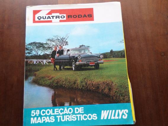 Revista Quatro Rodas Coleção Mapas Turísticos Jeep Rural