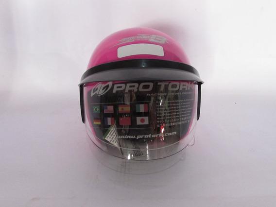 Capacete Moto Liberty Three Tamanho 56 Rosa