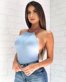 Body Feminino Costas Nua Sal E Pimenta Alcinha Modelo Novo