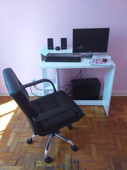 Computador Positivo Core 2 Duo Com Móvel E Cadeira