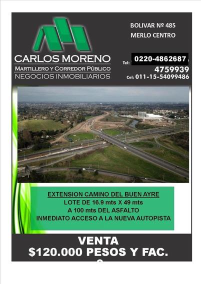 Extensión Camino Del Buen Ayre !!