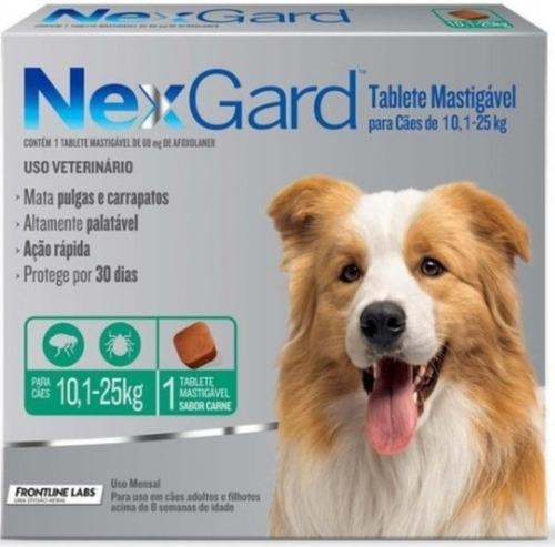 Nexgard Antipulgas Perros De 10 A 25kg Caja X 3 Unidades