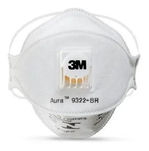 10 Máscaras 3m Aura 9322+br Pff2 (equiv. A N95) Com Válvula