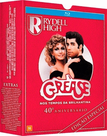 Blu-ray Grease - Ed 40 Anos + Fone De Ouvido - Lacrado