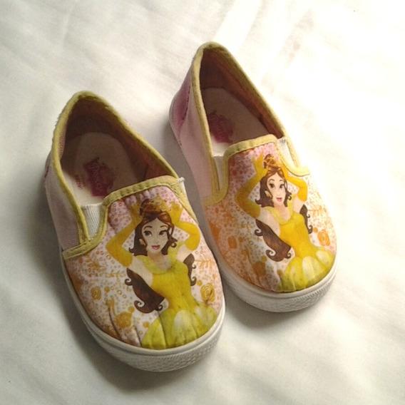 Tênis Infantil Slip On Bela Amarelo E Rosa Tamanho 24