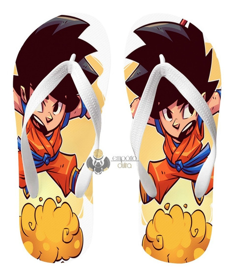 Chinelo Mini Dragon Ball Goku Super Herói