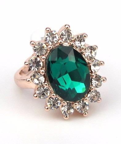 Anel De Formatura - Esmeralda - Verde - Ouro 18 K