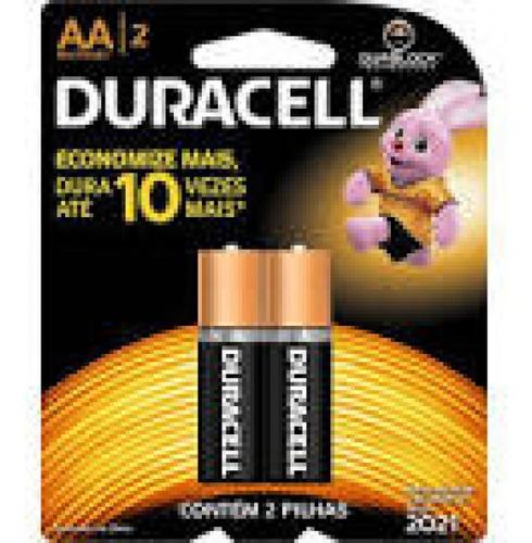Pilha Duracell Alcalina Aa C/2