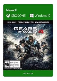 Gears Of War 4 Xbox One/pc Código Digital Entrega Inmediata