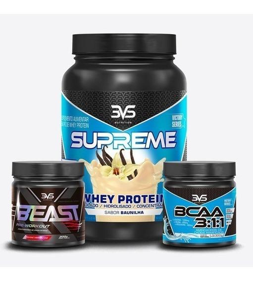 Combo 3vs Whey Supreme+beast+bcaa