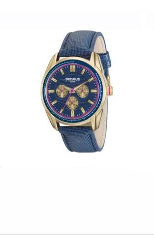 Relógios Seculus Masculino 5atm Dourado