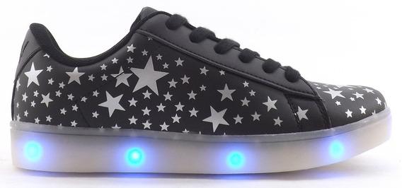 Zapatillas Muaa Adolescentes Led Estrellas Iana Promocion