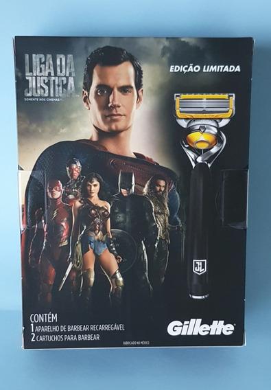 Gillette Fusion Proshield Liga Da Justiça Edição Limitada