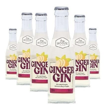 Imagem 1 de 1 de Easy Booze Ginger Gin 200ml ( 6 Unidades )