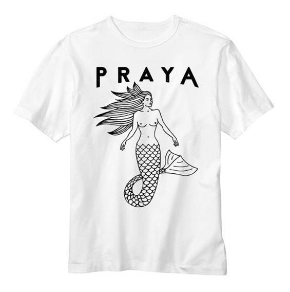 Camiseta Branca Sereya Preta