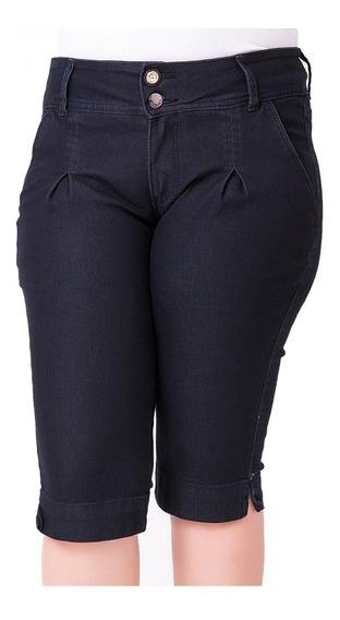 Bermuda Jeans Maria João Com Elastano Plus Size Mjj095