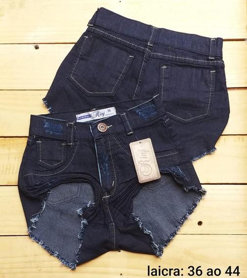 Kit 3 Shorts Short Bermudas Jeans Feminina Hot Pant Anita