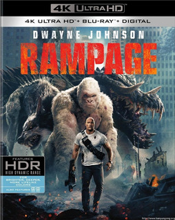 Rampage Devastacion 4k Ultra Hd + Blu-ray Nuevo Original