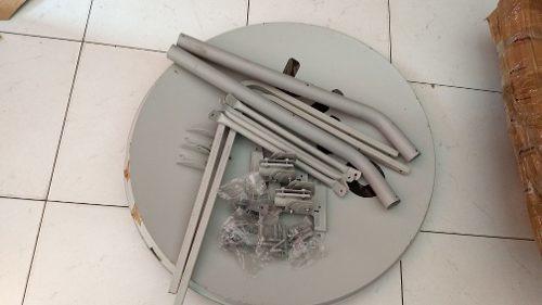 2 Antenas Ku 75cm Somente Retirada+2 Lnb Quadruplo