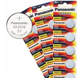 10 Baterias Panasonic Cr2016 3v Relógio Calculadora