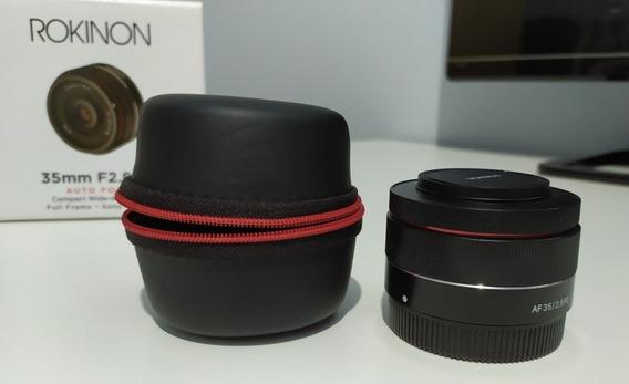 Lente Rokinon 35mm 2.8 Para Sony Full Frame