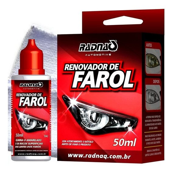 Renovador De Farol Radnaq Acrilico Limpa Remove Fosco