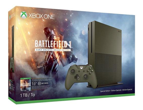 Xbox One S 1tb Original 4k C/ 1 Controle Com Fio + 1 Jogo