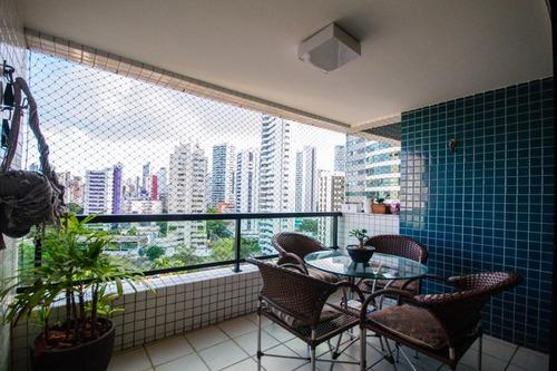 Apartamento Com 3 Quartos À Venda, 125 M² Por R$ 750.000 - Boa Viagem - Recife/pe - Ap2617