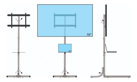 Suporte Pedestal P/ Tv Apresentação Vídeo Aula Display