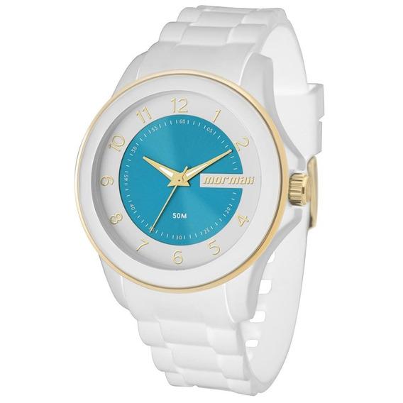 Relógio Mormaii Branco Luau Mo2035an/8b 12x Sem Juros