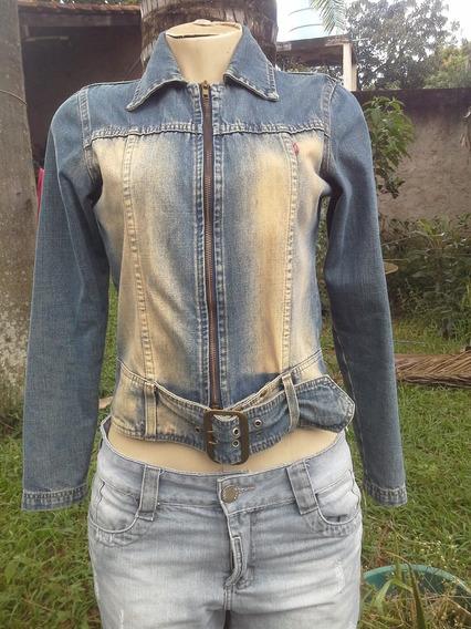 Jaqueta Jeans Questão De Estilo Tam M