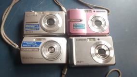 Lote De 4 Câmeras Digital Samsung E Olympus Com Defeito