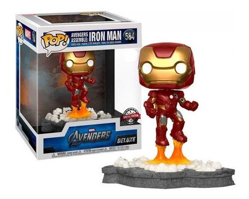 Imagem 1 de 5 de Funko Pop Avengers Assemble: Iron Man *deluxe* *ex* #584