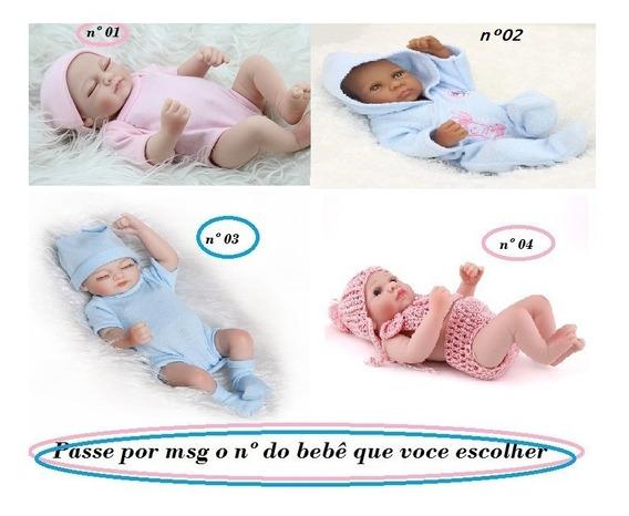 Bebê Reborn 25cm Silicone Menino Menina A Escolher