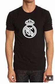 Camiseta Estampada Madrid Negra Y Blanco