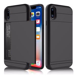 Capa Case iPhone X Apple Dinheiro Cartão Anti Impacto Queda