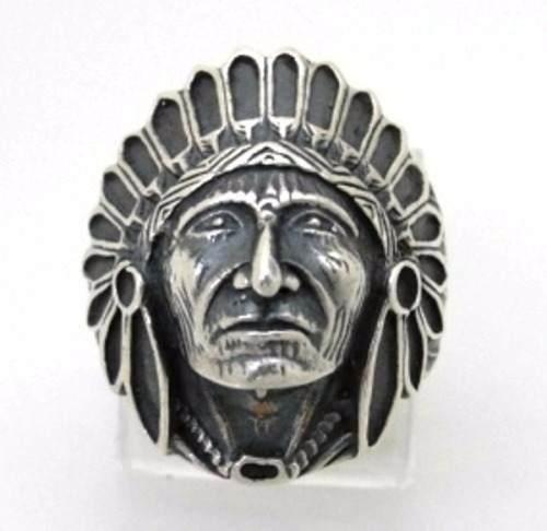 Anel Indio Apache Florenzza Em Prata 950