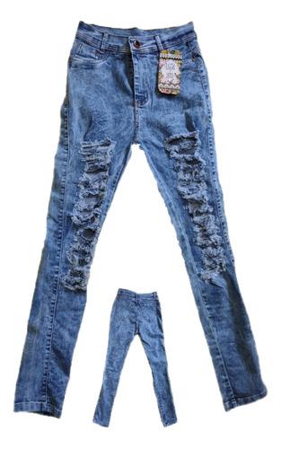 Imagem 1 de 1 de Calça Jeans Rasgada Com Elastano E De Ótima Qualidade