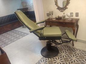 Cadeira Poltrona De Barbeiro Podologia Antiga Barbearia