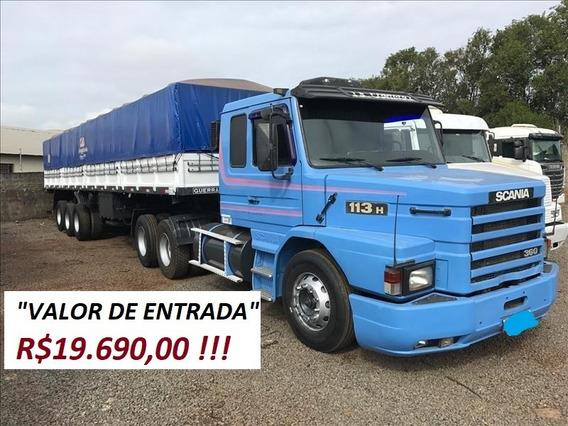 Scania 113 360 Mais Carroceria Azul Ano 97