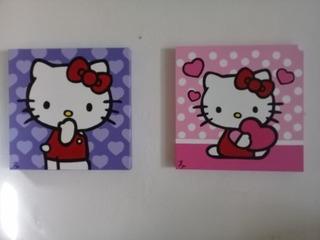 Cuadros Decorativos Modernos Hello Kitty Diptico