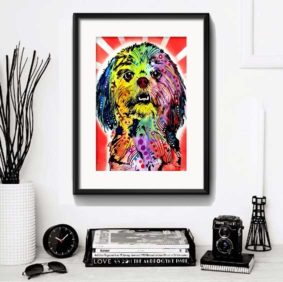 Quadro Cachorro Pop Art Varias Racas Decor Pet Shop Paspatur
