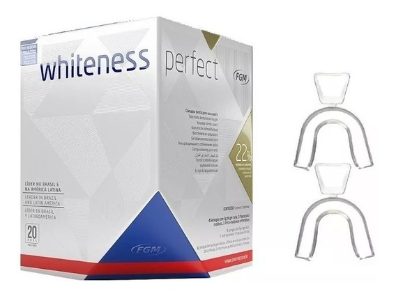 Kit Clareamento Dental Whiteness Perfect 22% + Moldeira
