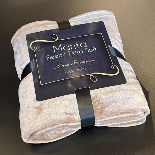 Imagen 1 de 3 de Manta Fleece Extra Soft Beige 100% Poliéster