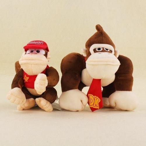Pelúcias Donkey E Diddy Kong Super Mario Bros Macacos