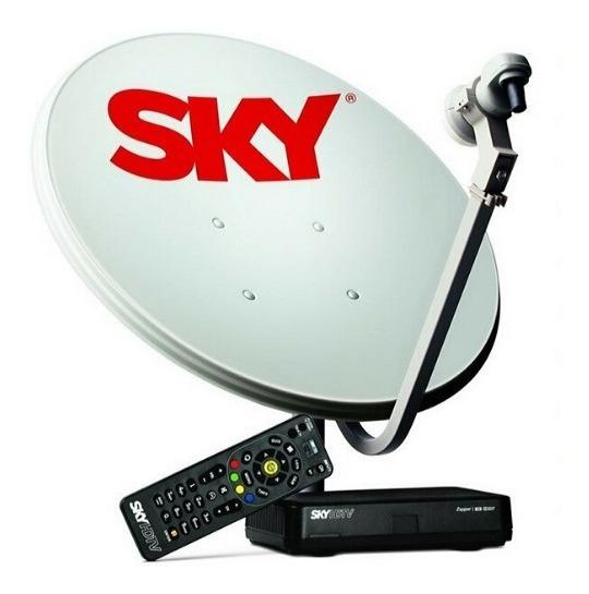 Sky Prépago + Recarga + Habilitação Rec Digital 12m 49canais