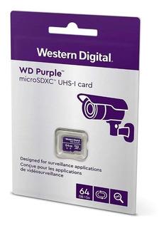 Cartão Microsd 64 Gb Wd Purple Intelbras Pronta Entrega