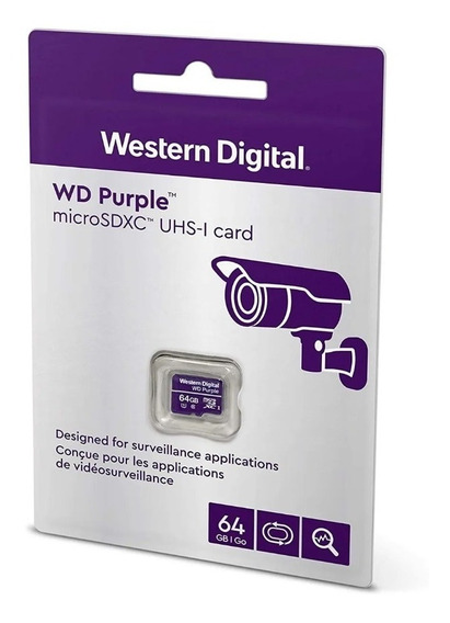 Cartão Microsd 64 Gb Wd Purple Intelbras Profissional