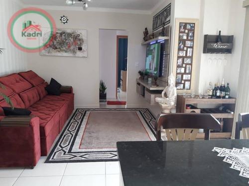 Apartamento Com 2 Dormitórios À Venda, 153 M² Por R$ 530.000,00 - Canto Do Forte - Praia Grande/sp - Ap5161